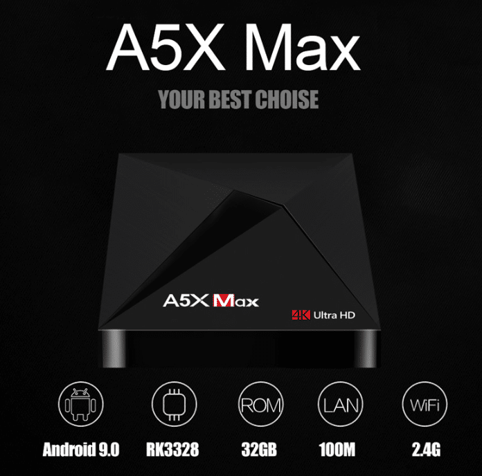 HAAYOT A5X Max Smart Android 9.0 TV Box