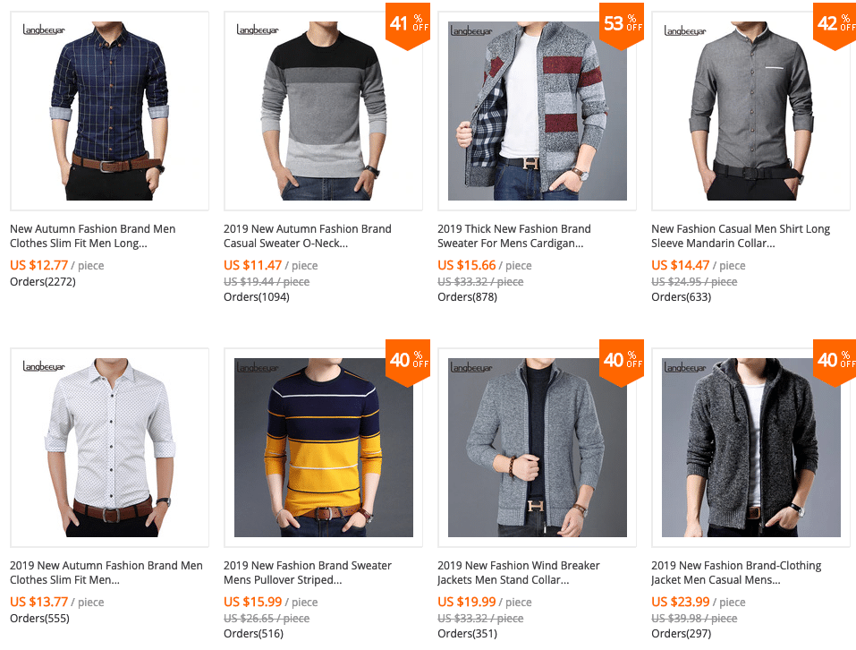 men clothes brand best free shipping