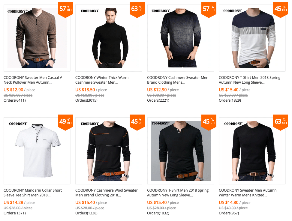 cheap chinese brand clothes for men