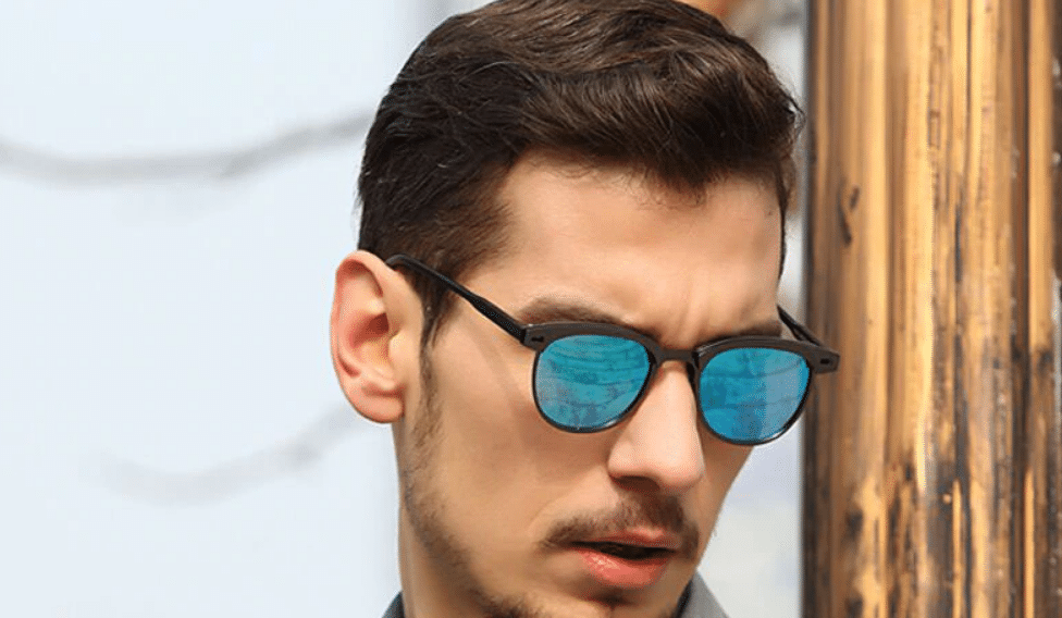 semi rimless sunglasses men