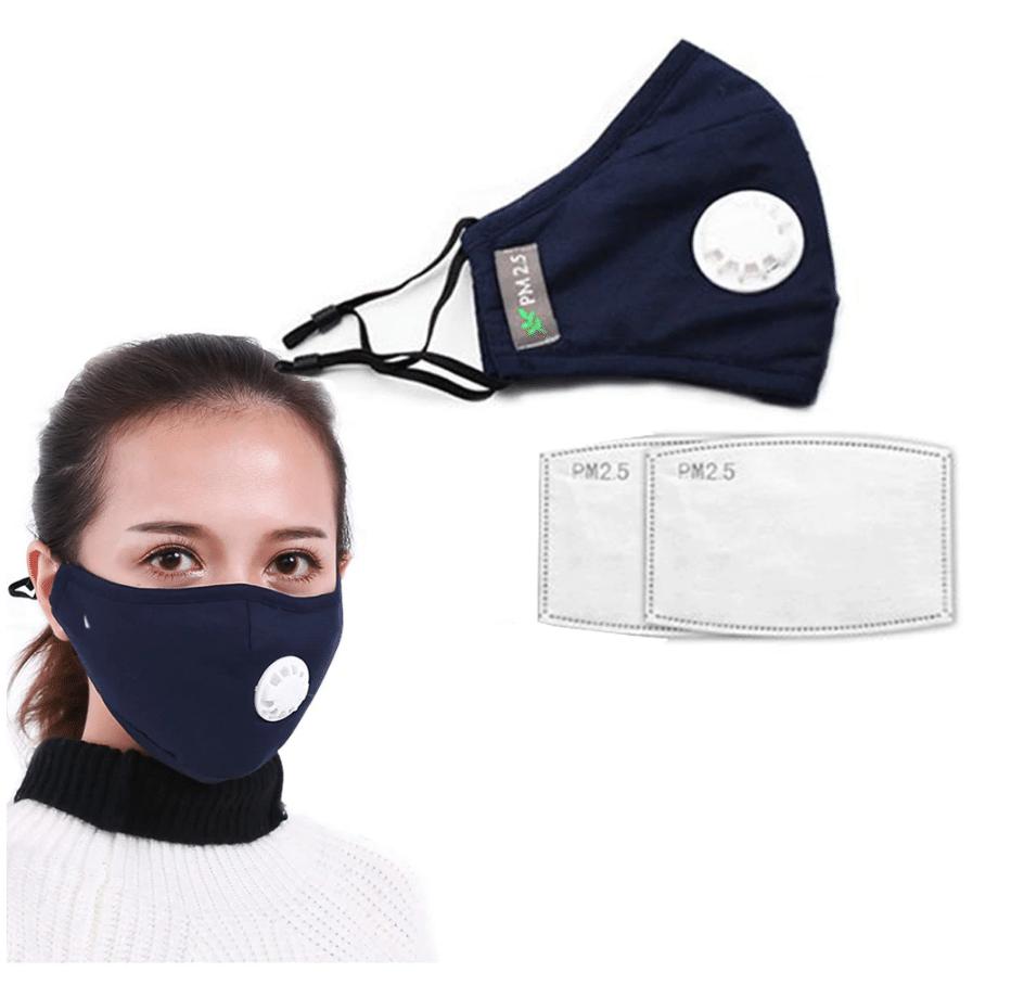 maschera facciale con respiratore