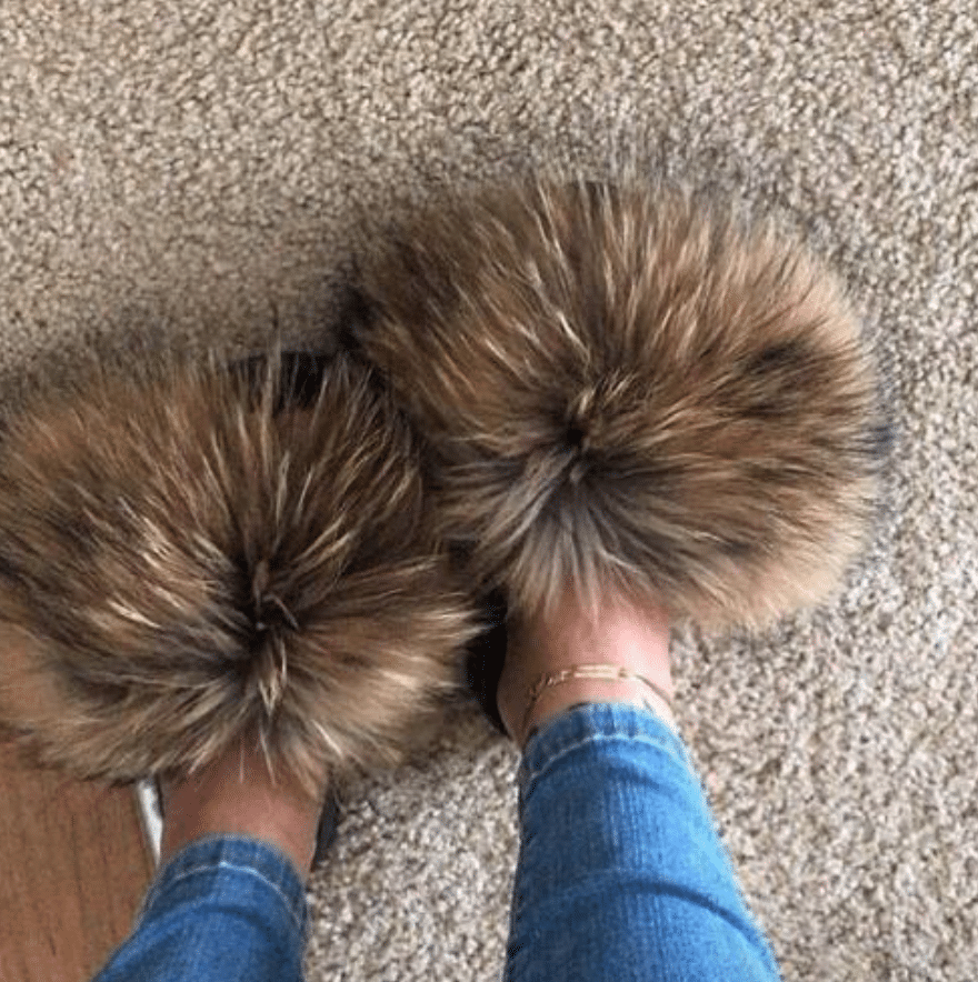 fur slippers alibaba
