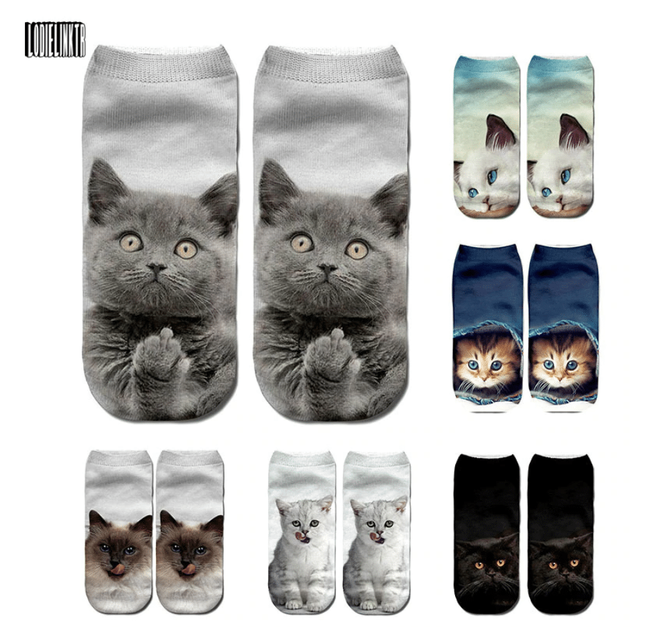 ankle socks with animal designs
